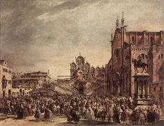 Pope Pius VI Blessing the People on Campo Santi Giovanni e Paolo