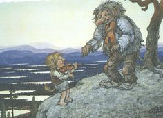 The beautiful, rugged Norwegian landscape conceals sprites and elves, goblins and trolls, talking foxes and a beautiful female troll called Huldra. This is the land of Norwegian faerie tales; the land east of the sun and west of the moon.