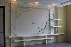 одноклассники Plaster Sculpture, Wall Sculptures, Plaster Art, Tv Wall Panel, Modern Tv Wall Units, False Ceiling Design, Wall Decor Stickers, Kitchen Cabinet Design, Decoration