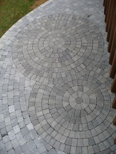 Patio with double circles