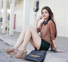 Sheinside Camel Faux Leather Collar, Romwe Esmerald, Matiko Nude, Moschino Vintage Modified, My Blog!