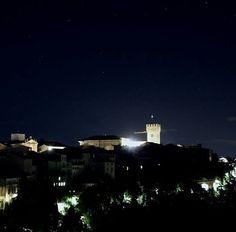 Recanati by night from Gallery Hotel Recanati. Photo by Gianluca Epirotti
