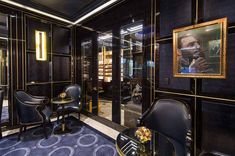 The Wellesley Hotel Home Theatre Lounge, Hotel Lounge, Bar Lounge, Bar Interior Design, Luxury Interior, Luxury Furniture, Lounge Design, Lounge Decor, Black And Gold Theme