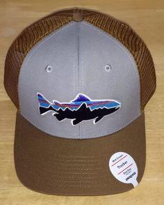 f10b7c4f62ba7 Patagonia Trout Fitz Roy Trucker Hat - NWT - Mid Crown Drifter Grey w   Coriander