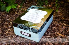 Bad day box that you prepare for that special someone to let them know that you are there and care! Great idea! Might stick their favorite movie inside too :)