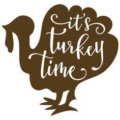Silhouette Design Store: it's turkey time - turkey phrase