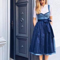 Dirndl Josephine Bahama Blue   Dirndl   Damen   CocoVero Trachten München Bahama Blue, African Dress, Everyday Fashion, Denim, Skirts, Clothes, Dresses, Boyfriends, African Print Dresses