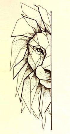 Lion tattoo line art 40 new ideas - lion tattoo line art 4 . - Tattoo Lion Line Art 40 New Ideas – Tattoo Lion Line Art 40 New Ideas – - Geometric Lion Tattoo, Geometric Drawing, Geometric Lines, Geometric Tattoo Drawings, Tattoo Abstract, Geometric Sleeve, Origami Tattoo, Rose Tattoos, New Tattoos