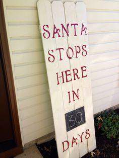 DIY Santa stops here countdown!