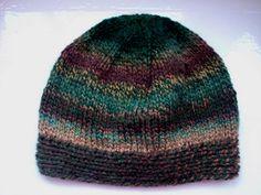 Unisex hat beanie warm hand knitted wool mix by SpinningStreak, $30.00