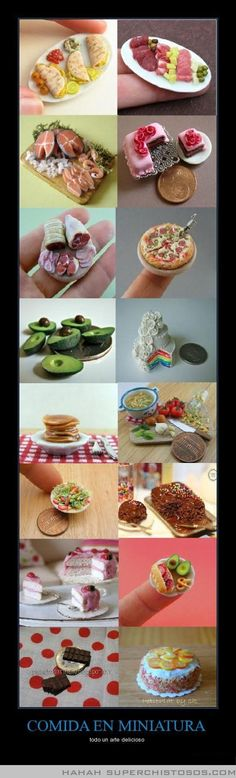 Tiny food... it's so CUTE! And delicious-looking!