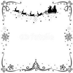 Christmas frame, Rentiere mit Schlitten