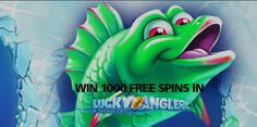 Win 1000 free spins on Lucky Angler