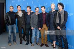 Actors George Clooney, Channing Tatum, Josh Brolin, director Ethan Coen, actors Alden Ehrenreich, Tilda Swinton and director Joel Coen attend the 'Hail, Caesar!' photo call during the 66th Berlinale International Film Festival Berlin at Grand Hyatt Hotel on February 11, 2016 in Berlin, Germany.