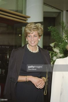 Princess Diana at the Alfred Dunhill shop in Mayfair, 25th May 1994.