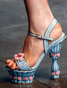 Dolce and Gabanna fall 2012. I'd love these for a very fancy teaparty ♥  ~CUTE SHOES, NASTY TOES!!!~