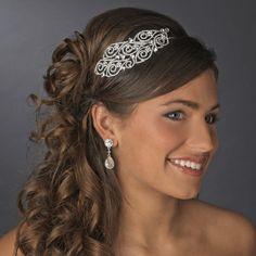 Affordable Elegance Bridal - Ornate Side Accent Rhinestone Bridal Headband, $124.99 (http://www.affordableelegancebridal.com/ornate-side-accent-rhinestone-bridal-headband/)