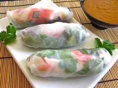 spring rolls & quick peanut sauce - Budget Bytes