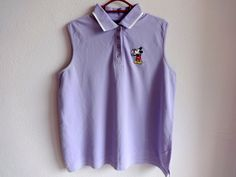 Vintage MICKEY UNLIMITED Top Mickey Mouse Top Sleeveless top Violet cotton Summer top L size clothes Violet top Vintage fashion by Vintageby2sisters on Etsy