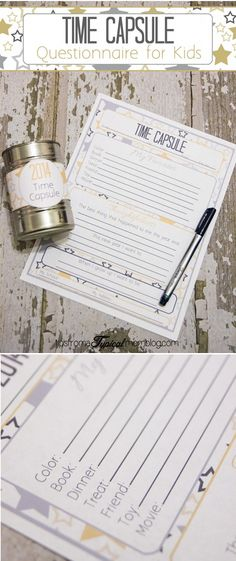 Okay this time capsule idea is FREAKING ADORABLE! We started it last year and our kids LOVED it. Such a fun and easy New Years Eve tradition!
