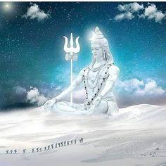 Image may contain: 1 person, cloud, sky and text Rudra Shiva, Mahakal Shiva, Shiva Statue, Shiva Art, Lord Krishna, Lord Hanuman Wallpapers, Lord Shiva Hd Wallpaper, Lord Ganesha Paintings, Lord Shiva Painting