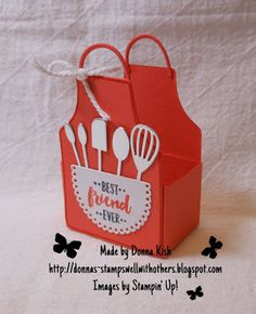 Stamps Well With Others: Ghirardelli Apron of Love Tutorial Homemade Recipe Books, Homemade Cards, Scrapbook Cards, Scrapbooking, Stampin Up, Hot Chocolate Gifts, Cadeau Surprise, Love Stamps, Fun Fold Cards
