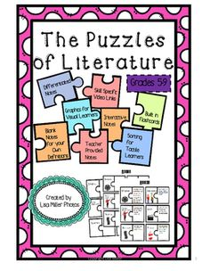 ~This is a FREEBIE of POETRY STRUCTURE from my Puzzles of Literature Interactive Notes~The Puzzles of Literature for Common Core Standards grades 5-9As a special education teacher, I have often been asked to create materials for use in many different classrooms.