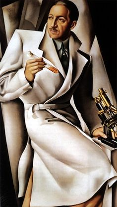 Tamara de Lempicka is best known for her Art Deco style paintings. She was born in Poland in 1898. We can say that her subject matter is highly exotic. She painted elefantly dressed figures set to a backdrop of the Paris high society. Her paintings are very stylish and really one of a kind. The style is very geometrical and defines the Art Deco period. It shares some elements with cubism, but with a softer approach. It is also very clean and slick.