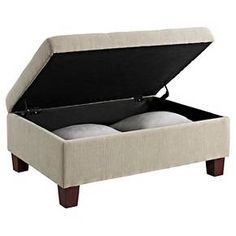 The Threshold Tufted Cocktail Ottoman is a perfect compliment to any living space. Its style, comfort, and practicality make this ottoman ideal for any scenario. Its soft tufted fabric invites you to kick your feet up with pure comfort while its flat top design allows you to steadily place a serving tray on. As an added bonus, raise its easy-to-lift hinged top to reveal ample storage for your favorite books, movies, and blankets. Combine this Threshold Tufted Cocktail Ottoman with other…