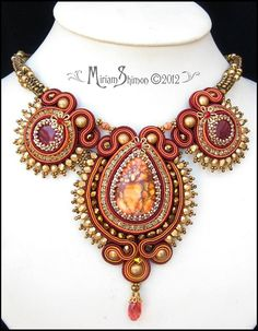Autumn Soutache necklace | Explore Cielo Design photos on Fl… | Flickr - Photo Sharing!