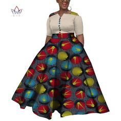 Image of 2019 African Dresses For Women Dashiki African Dresses For Women Colorful Daily Wedding Size Ankle-Length Dress African Party Dresses, Short African Dresses, Latest African Fashion Dresses, African Print Dresses, African Print Fashion, African Dress Patterns, African Dress Designs, African Traditional Dresses, Business Outfit