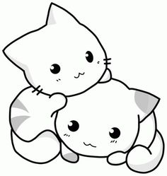 Cute Kitty Coloring Pages For Little Kids