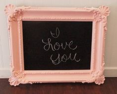So excited...Hannah & I are making this today! Went shopping at Goodwill for frames, too! Will post before & after pics later.