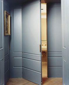 Habitually Chic® Francisco Costa's apartment  -  closet doors if not wallpapered?