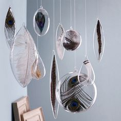 Feather Bulb Holiday Ornaments @Earthsake