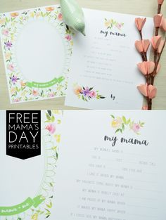 sarah m style: freebies: mama's day questionnaire + portrait printables.