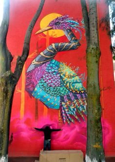 'Songs of Colour' Sublime Nature in Street Art by NacHo Wm ft. Farid Rueda #art…