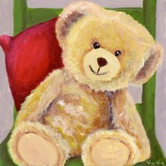 A lovely teddy bear who looks as friendly as this one. He was Great Grandma's friend and now he's yours