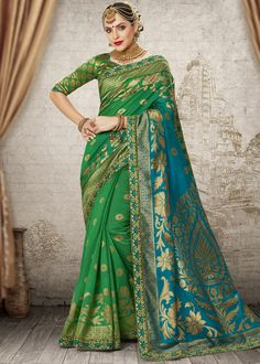 India's premier online store for buying the latest collection of indian designer sarees. Order this resplendent weaving work art silk traditional designer saree. Indian Designer Sarees, Designer Sarees Online, Trendy Sarees, Stylish Sarees, Banarasi Sarees, Silk Sarees, Traditional Sarees, Party Wear Sarees, Indian Ethnic Wear