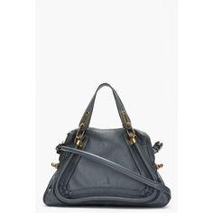 540ae75ebede3a CHLOE Slate Grey Paraty Medium Shoulder Bag ($1,895) ❤ liked on Polyvore  Gris,