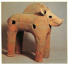 The Kofun period art, Haniwa terracotta clay figure. Osaka Japan, Japan Art, Wild Boar, Yayoi, Clay Figures, Arts Ed, Clay Animals, Ceramic Clay, Clay Art