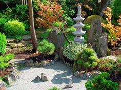 Japanese Garden Side entrance landscape design and hardscape By