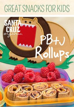 We've all spread peanut butter and jelly across two slices of bread, but have you ever tried rolling it up? The kids will love this fresh take on a PB+J sandwich—especially when it's made from Santa Cruz Organic® Strawberry Fruit Spread and Santa Cruz Organic® Peanut Butter.