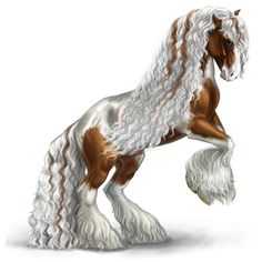 I want this coat for a gypsy vanner if I get a Golden or Diamond Apple! Mythical Creatures Art, Fantasy Creatures, Horse Drawings, Animal Drawings, Horse Animation, Horse Artwork, Most Beautiful Horses, Painted Pony, Unicorn Art