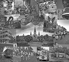 Ya Gotta Love New Orleans - Bw.  The Big Easy is unique. It is a place of saints and sinners. There is a vitality and joie de vivre that is contagious. It is a treat for all the senses and should be savored! Who dat!