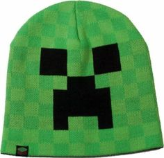 Amazon.com: Minecraft Creeper Face Video Game Knit Beanie Hat: Toys & Games