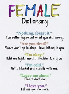 Quotes On Images » All Quotes On Images » Female Dictionary, Nothing Forget It