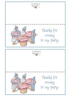 Printable Kid's Party Bag Topper Cupcakes by ToadstoolPrintables