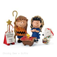 Peanuts THE CHRISTMAS PAGEANT Possible Dreams CLOTHTIQUE 4046607 Department 56  2015 NIB