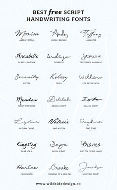 To save you time and effort, I've put together a list of my favorite script handwriting fonts that are completely free. Pretty, casual and authentic...